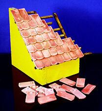 120 Keramik Biberschwanz Dachziegel, ziegelrot 30 x 15 x 1,8 mm, 1:9