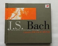 Van EGMOND-BRUGGEN/BACH Cantatas BWV 56 & 82 -FRENCH CD Book CATALOGUE SONY(1998