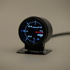 "2"" Smoke Pointer Car Turbo Boost Gauge -1 to 1.5 Bar + Sensor 7 Color LED Light"