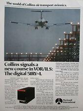 5/1977 PUB ROCKWELL COLLINS AVIONICS VOR/ILS DIGITAL 51RV4 ORIGINAL AD