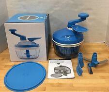 Tupperware Quick Chef Pro System Chopper Mixer Blue Original Box