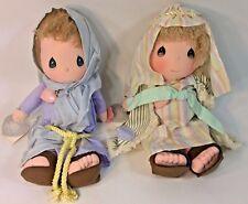 PRECIOUS MOMENTS SILENT NIGHT MARY & JOSEPH DOLLS SET TAGS