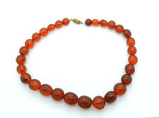 Vintage Baltic Necklace Butterscotch Amber Jewelry Beads 40 gr