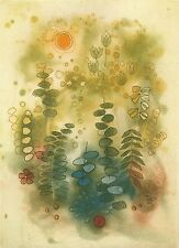 Gravure Anne Walker originale aquatinte signée numérotée paysage nature 1982