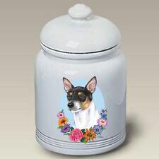 Rat Terrier Ceramic Treat Jar Tp 47130