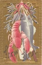 Lobster & Fish - Seafood - EMBOSSED, GLITTER & GILDED
