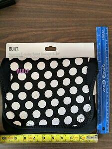 BUILT NY Neoprene Sleeve For 9-10 inch Tablet  Black/White Polka Dot New