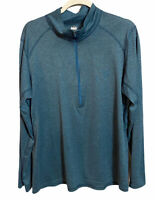 REI Co Op 1/2 Zip Pullover Base Layering Shirt Blue Size Large