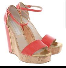 Stella Mccartney Wedge Heel Sandals In red size 40 / UK 7