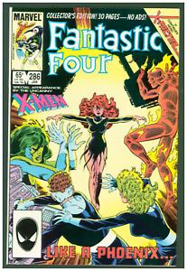 Fantastic Four #286 VF Marvel Comics 1986 John Byrne X-Men/Phoenix Cover Direct