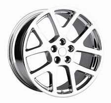 "(4) 22"" Staggered Viper Chrome 300C Challenger Charger Magnum Wheels Rims Set"
