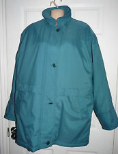 Size 14 medium weight winter coat by Klass Collection Teal colour with zip front