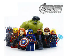 8Ps Avengers Super Heroes Hawkeye Hulk Iron Man Marvel Minifigures Building Toys