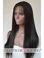 Yaki Straight Silk Top Lace Front Wig 6A Remy Human Hair With Baby Hair Glueless