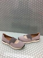 NIB Vionic CADEE Gray Suede Slip On Mary Jane Casual Flats Women's Size 8.5 W