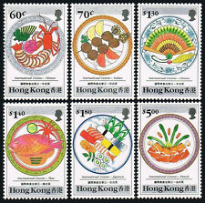 Hong Kong 564-569, MNH. Intl. Cuisine.Chinese,Indian,Thai,Japanese,French, 1990