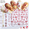 3D Xmas Nail Art Transfer Stickers Decals Christmas Manicure Decoration Tips Vv