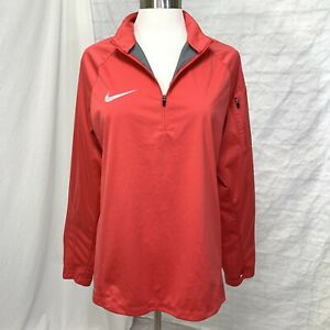 Nike Shield Women's M Jacket Top  Pink Orange Running long Sleeve #F