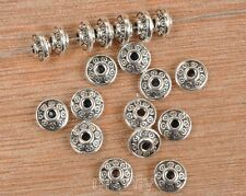 100pcs Tibetan Silver charm loose beads spacer bead 6x3mm  FA3458