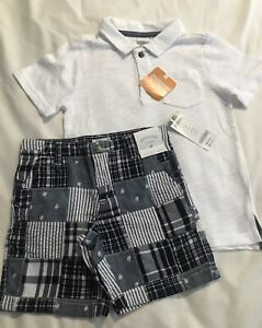 Gymboree Toddler Boy Short Sleeve Polo And Shorts 4T NWT