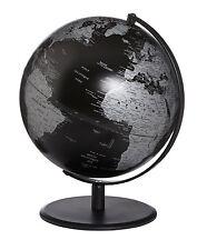 Emform Tischglobus Globus Matt Black Weltkugel 30 cm hoch Schwarz NEU