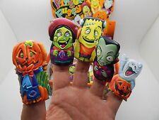 5 mini halloween doigt marionnettes idéal fête sac stocking filler loot sac parties