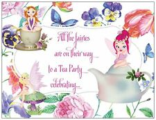 20 FAIRIES Tea Party BIRTHDAY Party Invitations Flat Cards & Env & Seals