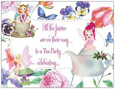20 FAIRIES Tea Party BIRTHDAY Party Invitations Flat Cards & Env & Seals