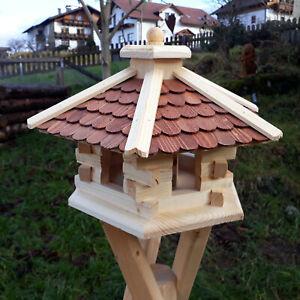 XL Vogelhaus Vogelhäuser Futterstation Futterhaus Holz o. Ständer behandelt B