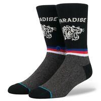 STANCE Men's Crew Socks TIGER EYE - BLK - Medium(6-8.5) - NWT