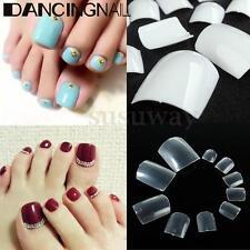 500pcs French False White Acrylic UV Gel Nail Art Toe Toenail Design DIY Tips