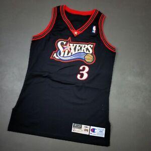 """100% Authentic Allen Iverson Champion 97 98 76ers Pro Cut Jersey Size 44+3"""" L"""