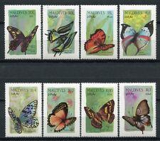 MALEDIVEN MALDIVE 1987 Schmetterling Butterfly Farfalla Papillon 1269-1276 MNH