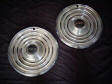 "1969 Pontiac Catalina Bonneville Ventura 15"" Ring-Type Wheel Covers Pair 9718044"
