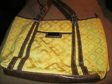 NWOT Nine & Co Gold with Brown Embossed Trim Purse