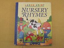 Large Print Nursery Rhymes illustrated by David Crossley