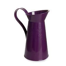 Lovely Metal Plum Purple Watering Can Flower Vase