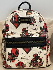 Loungefly Marvel Deadpool Tattoo Taco Sword AOP Mini Backpack Exclusive NWT