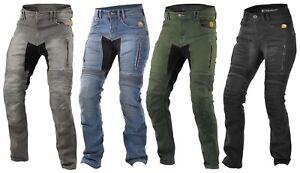 Trilobite Parado Black Blue Ladies Motorcycle Jeans Aramid Denim With Protector