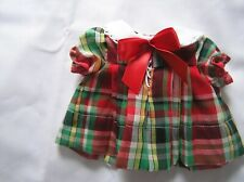 Sweet Plaid Dress for 13 Inch Shirley Temple for Compo Doll 1930's
