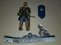 """Disney Walden Narnia Prince Caspian KING MIRAZ 7"""" Action Figure Collectable 2008"""
