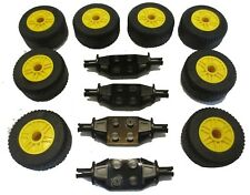 Wheels Axles... NEW LEGO VEHICLE LOT RACE TIRES 30.4x14 14x9 Car Road Slicks