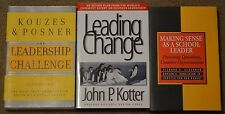 Lot of 3 Leadership books, GOOD to GREAT condition, College level reading