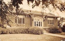 Tyndall South Dakota~Carnegie Public Library~1945 Real Photo Postcard~RPPC