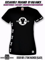Ladies SKA T Shirt. Small to XXL. Womens MADNESS T SHIRT - Exclusive collectors.