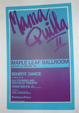 Original Poster MAMA QUILLA II 1981 MAPLE LEAF BALLROOM Toronto PARACHUTE CLUB