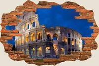 3D Hole in Wall Coliseum View Wall Stickers Film Mural Art Decal Wallpaper 32
