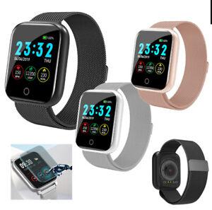 For iPhone Samsung HTC Women Men Waterproof Smart Watch Heart Rate Bracelet