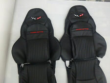 1997-2004 C5 Corvette Synthetic Leather Seat Covers Sports Seats Black