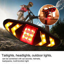 Wireless Bicycle Bike Rear LED Tail Light Remote Control 5 Warning Turn Signal